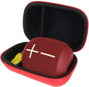 pour Ultimate Ears UE WONDERBOOM 1 / Wonderboom 2 Enceinte Bluetooth étanches EVA Dur Cas étui de Voyage Housse par Khanka(Rouge)