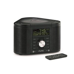 Pure Chronos CD Radio-réveil stéréo RNT/FM avec lecteur CD Noir