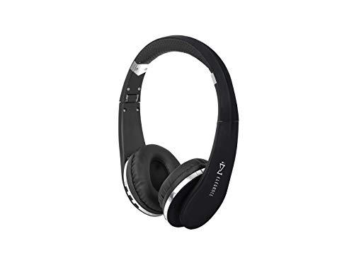 Trevi DJ 1200 BT Casque stéréo Bluetooth Pliable avec Microphone intégré, Noir