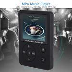 Weiyiroty Modes de Lecture Multiples MP4 léger, écran Couleur MP3 / MP4, Plug and Play pour la Musique, Radio, Enregistrement, vidéo, Livre électronique, chronomètre intégré(Black)