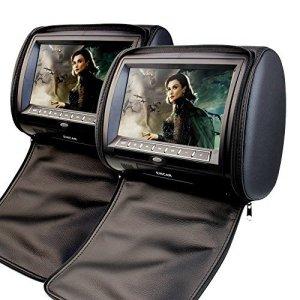 2 x EinCar 9 pouces num¨¦riques ¨¦cran d'affichage Appuie Lecteur DVD Moniteur support USB / SD / transmetteur IR / FM avec les contr?leurs de jeu vid¨¦o