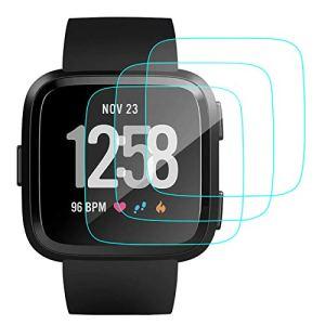 CAVN 3 Packs Fitbit Versa Protecteur d'écran en Verre Trempé Protecteur pour Fitbit Versa Smart Montre [2.5 d Round Edge] [9H Dureté] [Cristal Clair] [Anti-Scratch] [no-Bubble]