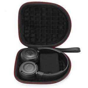 Étui Rigide pour Casque d'écoute sans Fil Bluetooth JBL T450BT / JBL T500BT Over Ear, Sac de Transport et de Protection de Voyage – Noir(Doublure Noire)