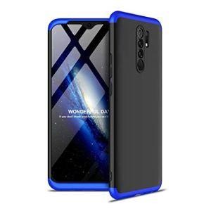 FHXD Compatible avec Les Coque Xiaomi Redmi K30 Anti-Choc 360° Cover Case Protection [Protecteur D'écran] Ultra Fin Anti-Rayures 3 en 1 Protection Housse Coquille-Bleu Noir