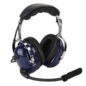 Garsent Casque Aviation, Écouteurs avec Microphone Annulation du Bruit 3,5 mm Casque Antibruit pour Les Pilotes Avion.