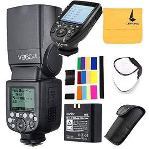 Godox V860II-C TTL Flash pour Canon 2.4G Sans Fil 1/8000s HSS Haute Performance Li-ION Batterie Speedlite avec Godox XPro-C Déclencheur à Distance émetteur pour Canon EOS 6D 50D 60D etc