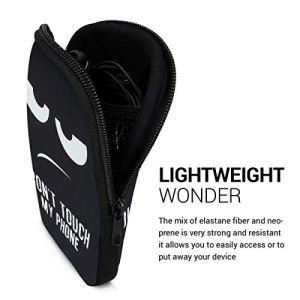 kwmobile Housse de Protection pour Smartphone L – 6,5″ – Sacoche de Protection pour Téléphone Portable en Néoprène Blanc-Noir