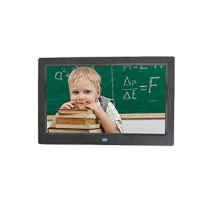 LICIDI Cadre Photo Numérique 10 Pouces, Résolution 1024×768 HD Cadre Photo électronique, avec Capteur de Mouvement Gravité Capteur, Vidéo HD/MP3/Photo électronique/Affichage Publicitaire,Black