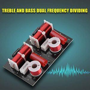 logozoee 2X ES302 diviseur de fréquence de Haut-Parleur Audio 2 Voies Filtre de Croisement HiFi pour Basses aiguës