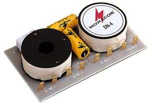 Monacor DN-4 Capacité de Croisement de composant – Crossovers Audio (Capacité de Croisement de composant, Systèmes à 3 Voies, 100 W, 8 Ohm, 650-6000 Hz, 12 DB)