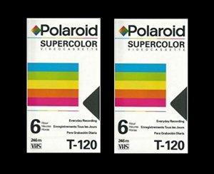 Polaroid Supercolor VHS T-120Lot de 2