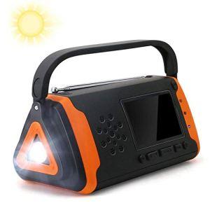 Raidos, Radio AM/FM NOAA à manivelle Solaire, Chargeur de téléphone Portable USB, Alarme SOS, Lampe de Poche LED pour Les Conditions météorologiques dangereuses et Les activités extérieures