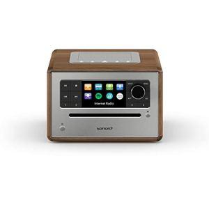 sonoro Elite Radio Internet CD (FM/Dab+/WiFi, Lecteur CD, AUX-in, Bluetooth, Deezer, Spotify, Amazon Music) Noyer