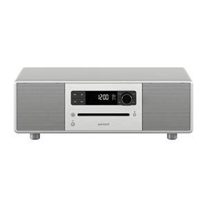 sonoro Stereo 2 Chaîne HiFi (FM/Dab/Dab+, Lecteur CD, AUX-in, Bluetooth, 2.1) Argent – Design Radio Numérique