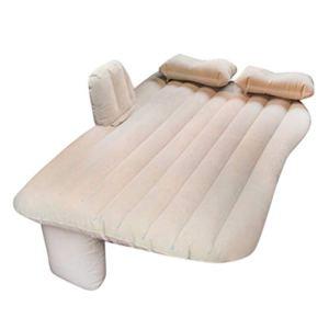Voiture matelas gonflable, Fulltime lit de voyage matelas gonflable matelas pneumatique Gonflable lit en forme de voiture De Voiture Retour housse de siège canapé gonflable Coussin (Beige)