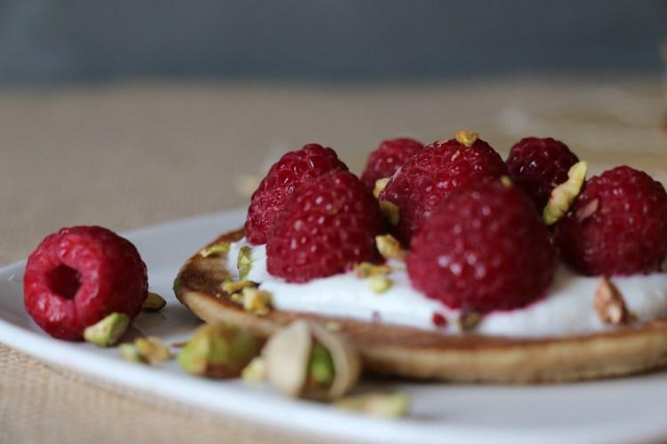 Pancakes gourmandes et légères, sans lactose, IG bas