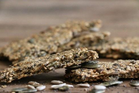 Crackers super croustillants riches en graines, IG bas