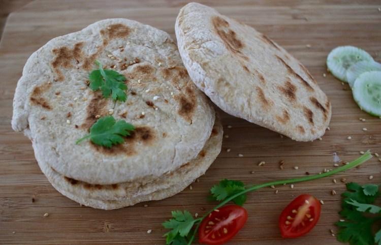 Pains pita IG bas à la farine intégrale