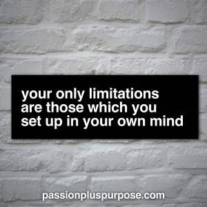 PassionPlusPurpose - Your only limitations are those which you sent up in your own mind
