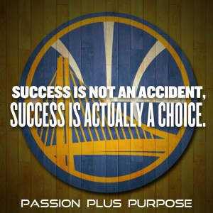 PassionPlusPurpose - Success is not an accident, success is actually a choice