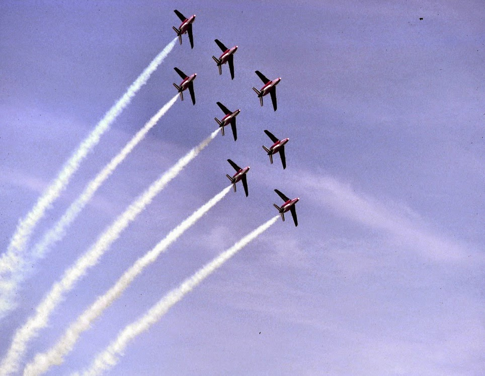 La patrouille de France sur Alpha Jet 1988 ©Xavier Cotton