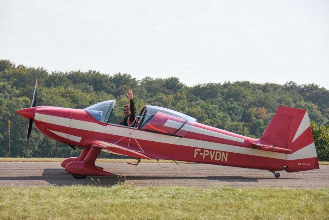 Alex Hory aux commande du CR100 F-PVDN