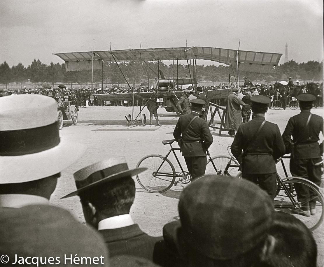 Arrivée de Georges Legagneux à Issy-les-Moulineaux le 17 août 1910 ©Jacques Hémet