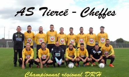 Coupe des Pays de Loire (6e tour) : Défaite frustrante pour l'AS Tiercé-Cheffes à Arnage Pontlieue.
