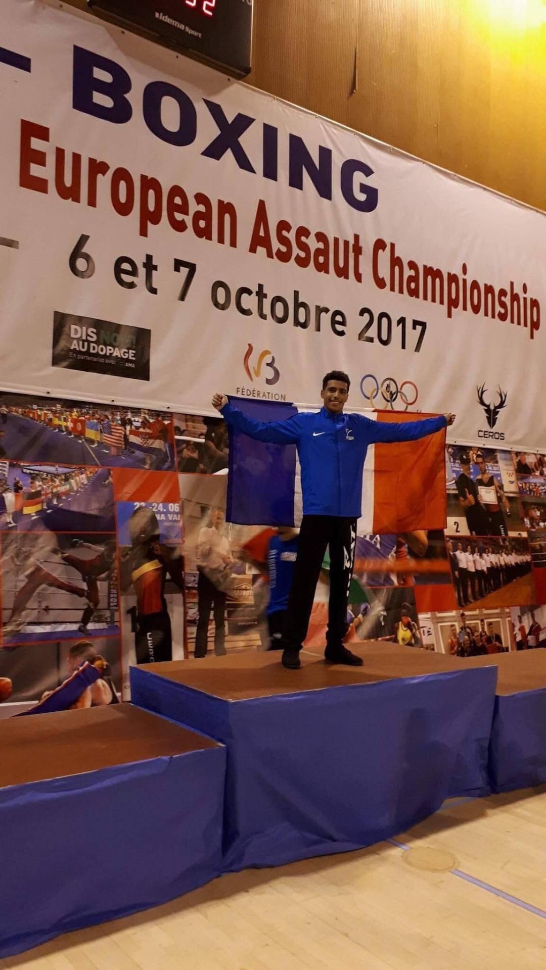 Lilian LOUISET est devenu champion d'Europe en -65 kg.