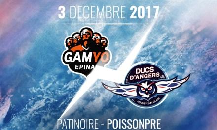 Ligue Magnus (33e journée) : Les Ducs d'Angers se déplacent au Gamyo d'Epinal, ce dimanche, à 18h30 !