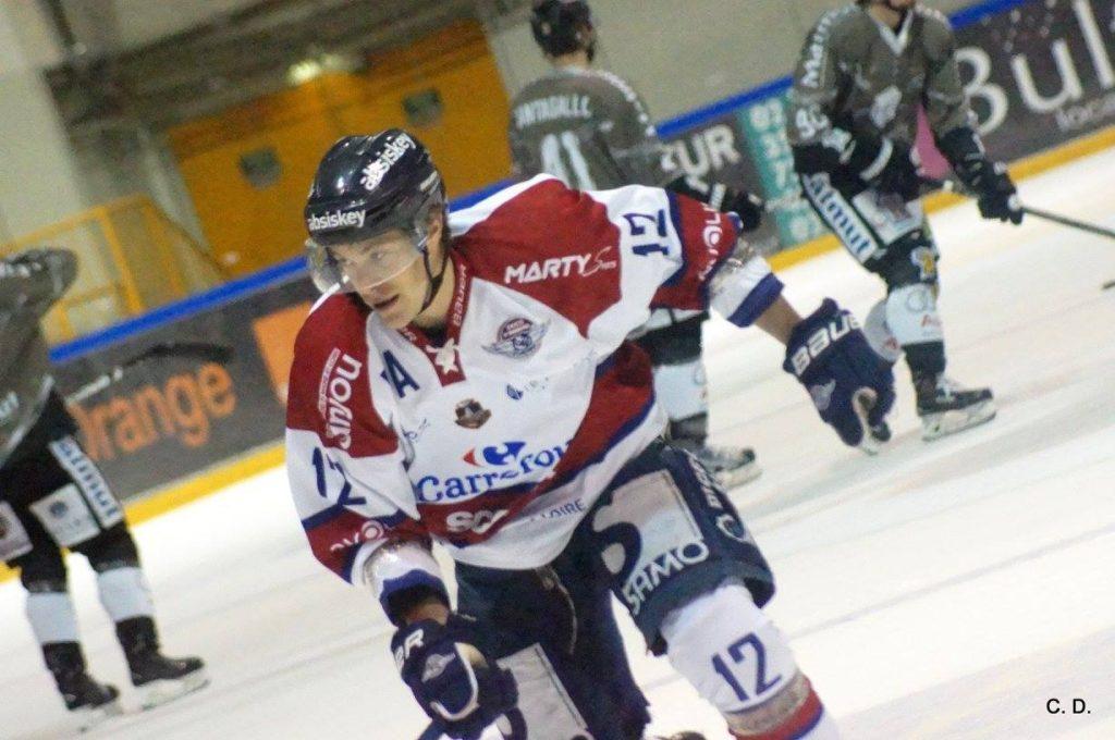 Maxime LACROIX a été l'auteur de deux buts et d'une assistance. Il a été élu homme du match pour Angers (photo : Corinne Deconihout).