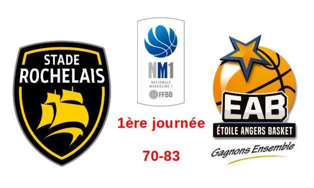 NM1 (1ère journée) : L'Étoile Angers Basket débute fort le championnat à la Rochelle (83-70).