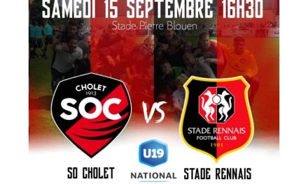 U19 National (4e journée) : Un défi de taille pour le SO Cholet qui va se mesurer au Stade Rennais FC.