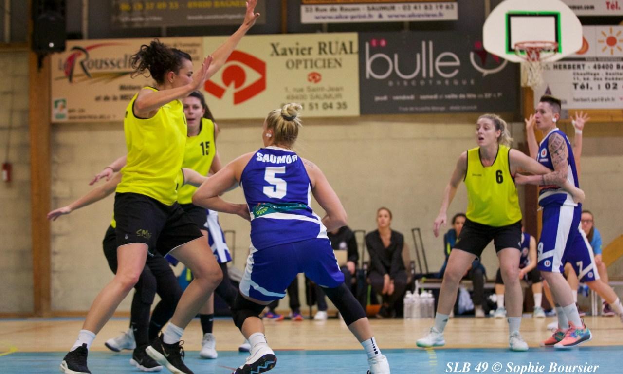 Les filles du Saumur Loire Basket 49 s'inclinent sur le fil face au Stade Montois (71-74).