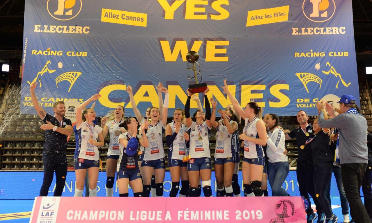 Le RC Cannes sacré Champion de la Ligne A Féminine 2019 !