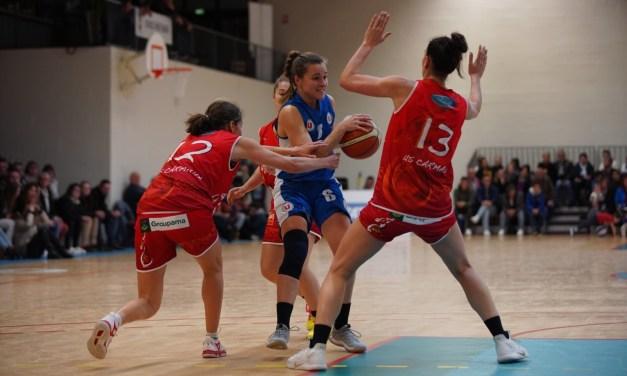 Les joueuses du Saumur Loire Basket 49 s'inclinent sur le fil face à Carmaux (62-64).