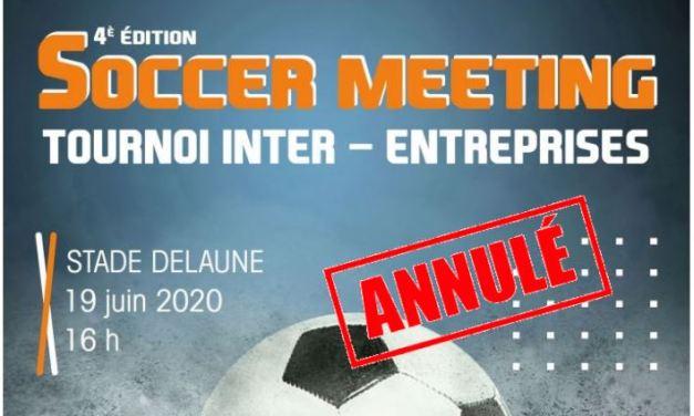 Le Soccer Meeting à Avrillé est annulé.