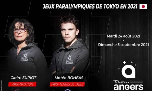 Claire SUPIOT et Matéo BOHÉAS, deux Angevins qualifiés pour les Jeux Paralympiques de Tokyo.