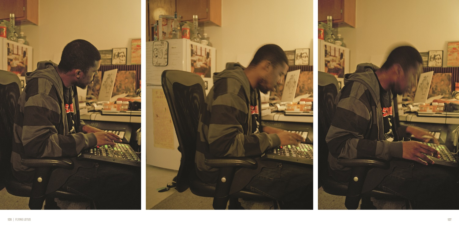 Flying Lotus page spread MED REZ Back To The Lab by Raph Rashid