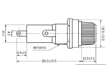 10A 250VAC Glass Tube Fuse Holder Panel Mount For Older