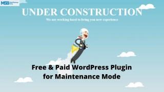 Best WordPress Plugin for Maintenance Mode