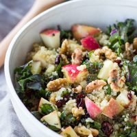 Picnic Perfect Kale Quinoa Salad + Cider Vinaigrette