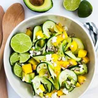 Spiralized Cucumber Summer Salad