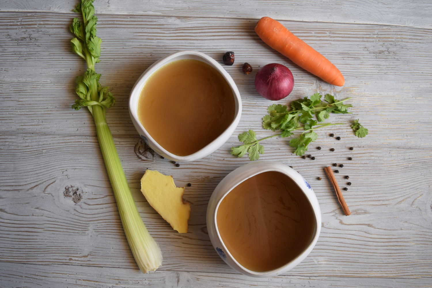 Spiced Chicken Broth