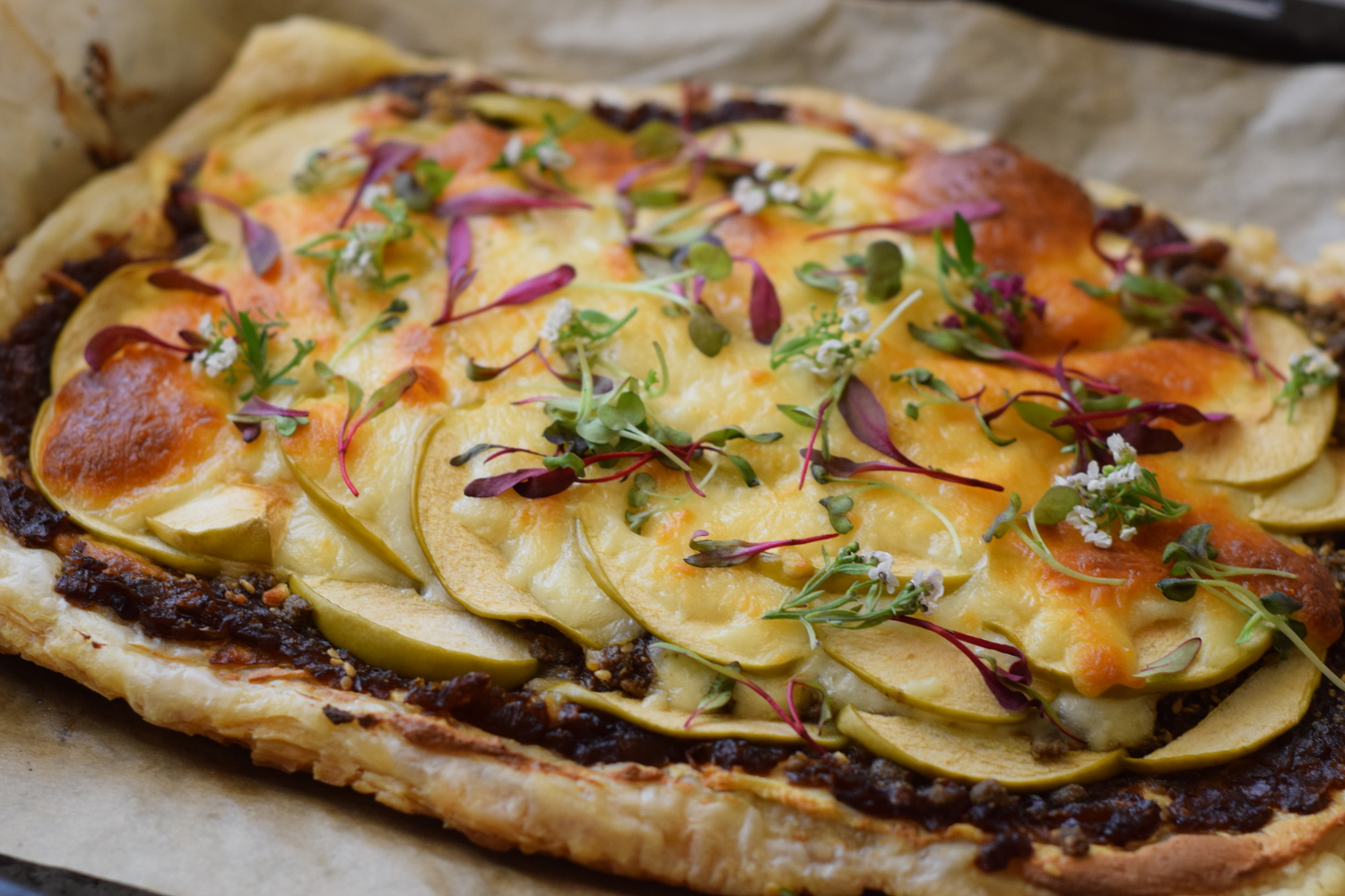 Savory Apple Tart with Caramelized Onions | Recipe