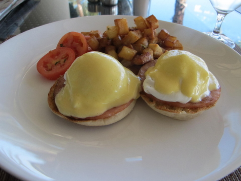 Eggs Benedict at The Ritz Carlton Fort Lauderdale
