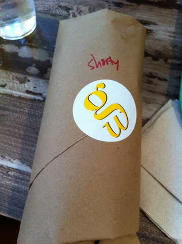 Beefrib Sandwich Wrapped