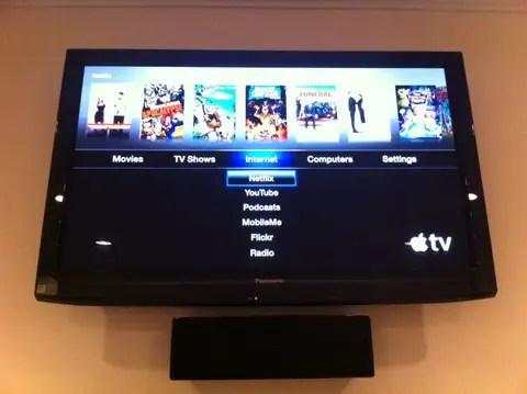 Apple TV on the TV