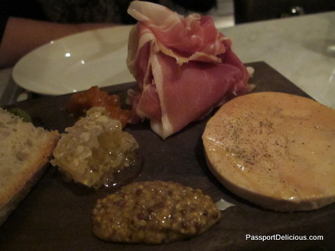 Balsan speck, foie gras