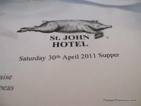 St John Hotel April 30